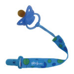 Paci-Holder-Plastic_Clip_Blue_Dot