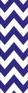 Grape Blue & White Chevron