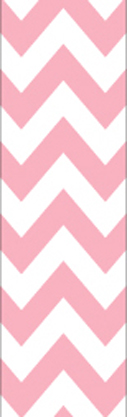 Pink & White Chevron